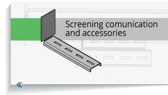 Screening comunication - cable trays and accessories