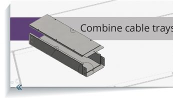 Combine cable trays